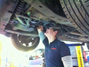 Mechanic Servicing Car Poole